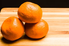 Drei Tangerinen Lizenzfreie Stockfotografie