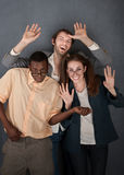 Drei tanzende Sonderlinge Lizenzfreies Stockfoto