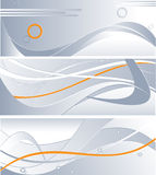 Drei Technologiehintergründe vektor abbildung