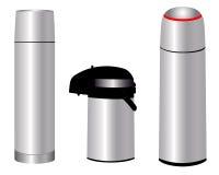 Drei Thermosflaschen Lizenzfreies Stockbild