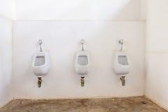 Drei Toiletten, zum Gebrauch zu sein Stockfoto