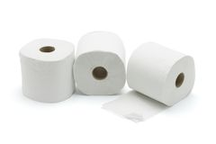 Drei Toilettenrollen Lizenzfreies Stockbild