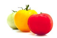 Drei Tomaten Stockbilder