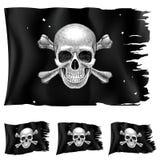 Drei Typen Piratenmarkierungsfahne Stockfotografie