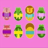 Drei, um die Ostern-Feiertage darzustellen in den Grafiken zu verwenden Tiere Lizenzfreie Stockfotos