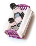 Drei unterbrochene Handys im Krankenhaus Lizenzfreies Stockbild