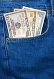 Drei unterschiedlicher US-Bargelddollar Stockbilder