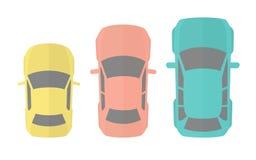 Drei unterschiedliches vorbildliches Cars Lizenzfreie Stockfotos