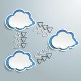 Drei verbundene Wolken Infographic vektor abbildung