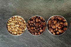 Drei verschiedene Arten Kaffee Lizenzfreie Stockbilder