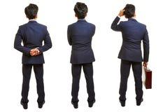 Drei Versionen des Geschäftsmannes von hinten Stockfotos
