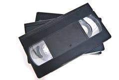 Drei VHS eins auf einem stockfotos