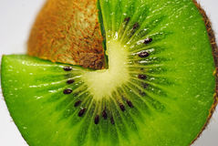 Drei viertel von grüner Frucht Stockbilder