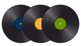 Drei Vinylaufzeichnungen Lizenzfreies Stockfoto