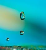 Drei Wasser-Tropfen Lizenzfreie Stockfotos