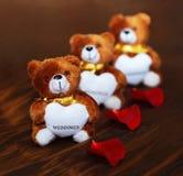 Drei Wedding Bären Lizenzfreie Stockbilder