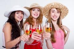Drei weibliche Freunde Stockfotografie