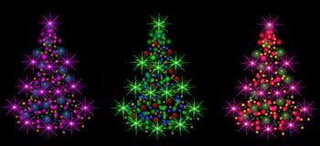 Drei Weihnachtenc$pelzbäume Vektor Abbildung