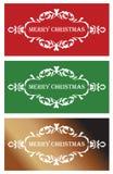 Drei Weihnachtsfahnen Stockbild