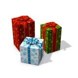 Drei Weihnachtsgeschenke Stockfotografie