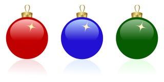 Drei Weihnachtskugeln stock abbildung