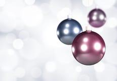 Drei Weihnachtskugeln Lizenzfreies Stockbild