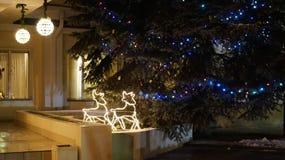 Drei Weihnachtskugeln getrennt auf Weiß Lizenzfreie Stockbilder