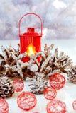 Drei Weihnachtskugeln getrennt auf Weiß Lizenzfreies Stockfoto