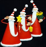 Drei Weihnachtsmann Stockbild