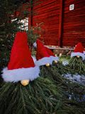 Drei Weihnachtsmann Lizenzfreies Stockbild