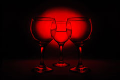 Drei Weingläser Stockfotos