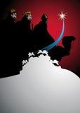 Drei weise Männer, die den Nachtisch kreuzen Stockfotos
