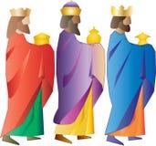 drei weise Männer oder drei Könige Geburt Christis-Illustration Lizenzfreies Stockfoto