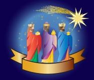 drei weise Männer oder drei Könige Geburt Christis-Illustration Weihnachten c Lizenzfreie Stockfotos