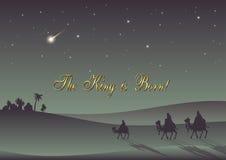 Drei weise Männer besuchen Jesus Christ nach seiner Geburt Lizenzfreie Stockbilder