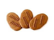 Drei WeizenSchokoladenkekse Lizenzfreies Stockfoto
