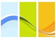 Drei wellenförmige Spalten lizenzfreie abbildung