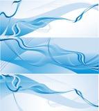 Drei wellenförmige vektorhintergründe Lizenzfreies Stockbild