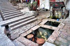 Drei Wells in der alten Stadt von Lijiang Lizenzfreie Stockbilder