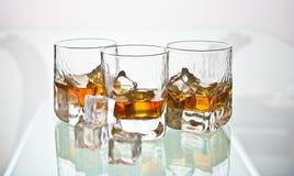 Drei Whiskygläser Lizenzfreies Stockbild