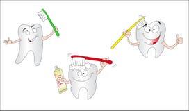 Drei Zähne Lizenzfreie Stockfotos