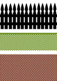 Drei Zäune vektor abbildung