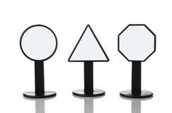 Drei Zeichen mit leerem Platz Lizenzfreies Stockbild