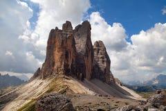 Drei Zinnen или Tre Cime di Lavaredo, доломиты горных вершин стоковое фото rf