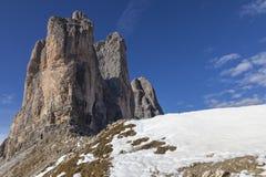 Drei zinnen Mountain Peaks Stock Photography