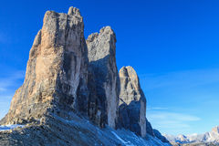 Drei zinnen Mountain Peaks Royalty Free Stock Photography