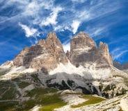 Drei Zinnen oder Tre Cime di Lavaredo Lizenzfreies Stockfoto