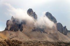 Drei Zinnen oder Tre Cime di Lavaredo Lizenzfreie Stockfotografie