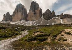Drei Zinnen peaks in Dolomites Royalty Free Stock Images