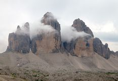 Drei Zinnen or Tre Cime di Lavaredo Royalty Free Stock Images